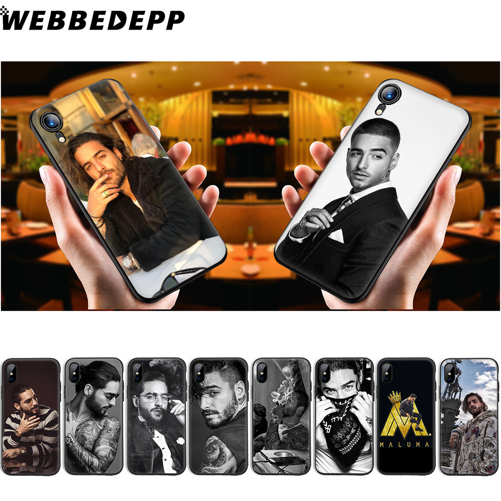 Phone Bags & Cases Fitted Cases Iyicao Maluma Soft Silicone Phone Case For Iphone Xr X Xs Max 6 6s 7 8 Plus 5 5s Se 10 Tpu Black Cover