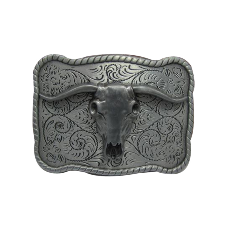 New Cowboys Belt Buckles Metal 3D Cow head Skull Designer Boy and Girl Waistband With Good Plating Women and Mens Belt Buckle