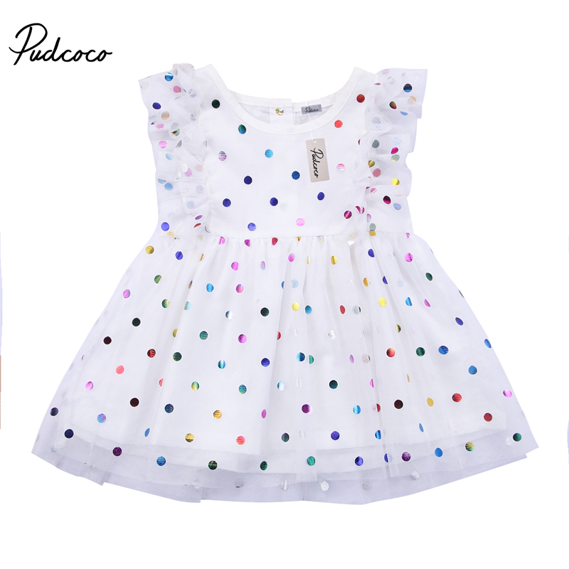 Cute Baby Girl Clothing Sleeveless Dresses Sequins Pageant Party Tulle Tutu Prom Mini Dots Cute Formal Dress Clothes Cute Baby Girl Clothing Sleeveless Dresses Sequins Pageant Party Tulle Tutu Prom Mini Dots Cute Formal Dress Clothes