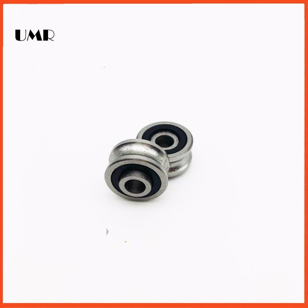 SG10 / 2 2RS LFR50/4NPP U Groove pulley ball bearings 4x13x6mm Track guide roller bearing sg15 2rs u groove pulley ball bearings 5 17 8 9 75 mm track guide roller bearing sg5rs v17