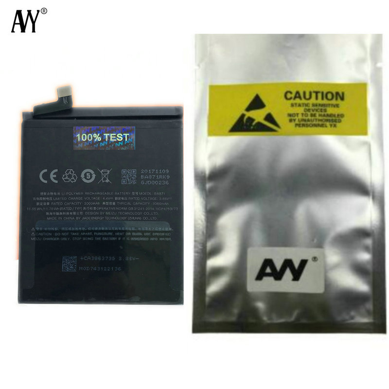 AVY Battery BA871 For MEIZU M15/15 Lite Mobile Phone Rechargeable Li-polymer Batteries 3050mAh-3150mAh Tested