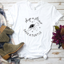 Skip A Straw Save A Turtle T Shirt Funny Slogan Women Fashion Grunge Tumblr Aesthetic Graphic Tee