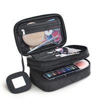 Luxury Cosmetic Bag For Makeup Double Layers Waterproof Toiletry Bag Portable Travel Organizer Large Make Up