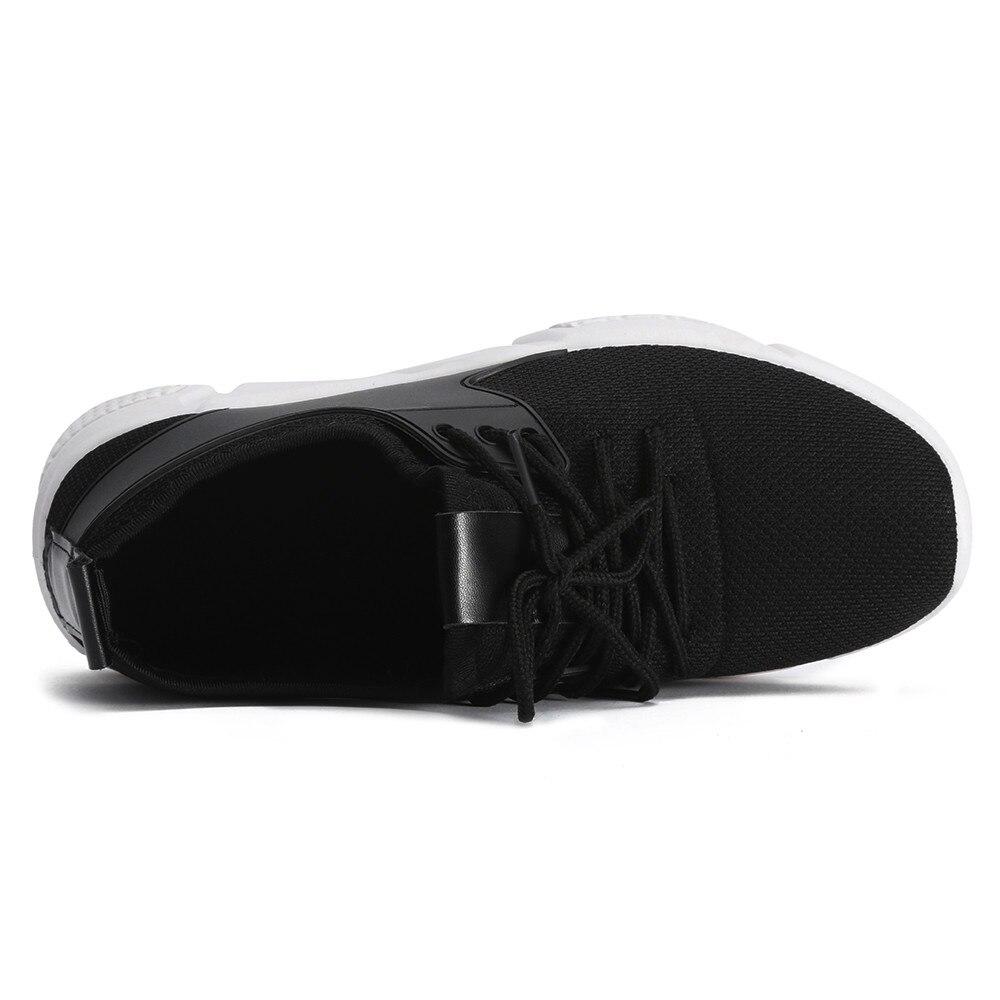 Maille Sport Appartements Noir Femmes Filles Espadrilles D'espadrille gris Sneaker up rouge Casual Mode Lace De Course Chaussures Marche wUSpqP