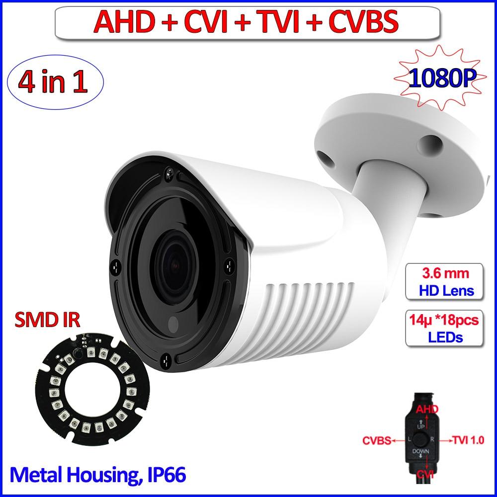 1080P HDCVI HDTVI CVBS AHD camera IP66 surveillance 4 in 1 2MP Night Vision 720P 1MP cctv camera, 3.6mm Lens, bracket, OSD owlcat cctv camera ahd 720p 1080p waterproof ip66 infrared ir night vision cctv security video surveillance ahd m 1mp 2mp camera