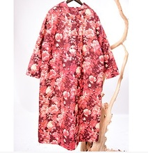 No inverno de 2015 novos produtos, high-end grandes estaleiros soltas espessamento de algodão-acolchoado roupas design original das mulheres