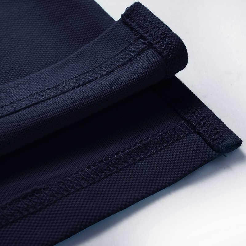 Пионерский лагерь брендовая одежда Для мужчин рубашки поло Для мужчин Бизнес Повседневное одноцветное мужской рубашки поло короткий рукав высокое качество натуральный хлопок