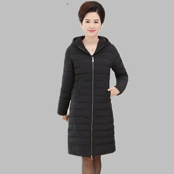 Das mulheres jaqueta de inverno 2016 novo longa para baixo casacos de algodão-acolchoado com capuz feminino parkas casaco de inverno mulheres plus size desgaste neve A322