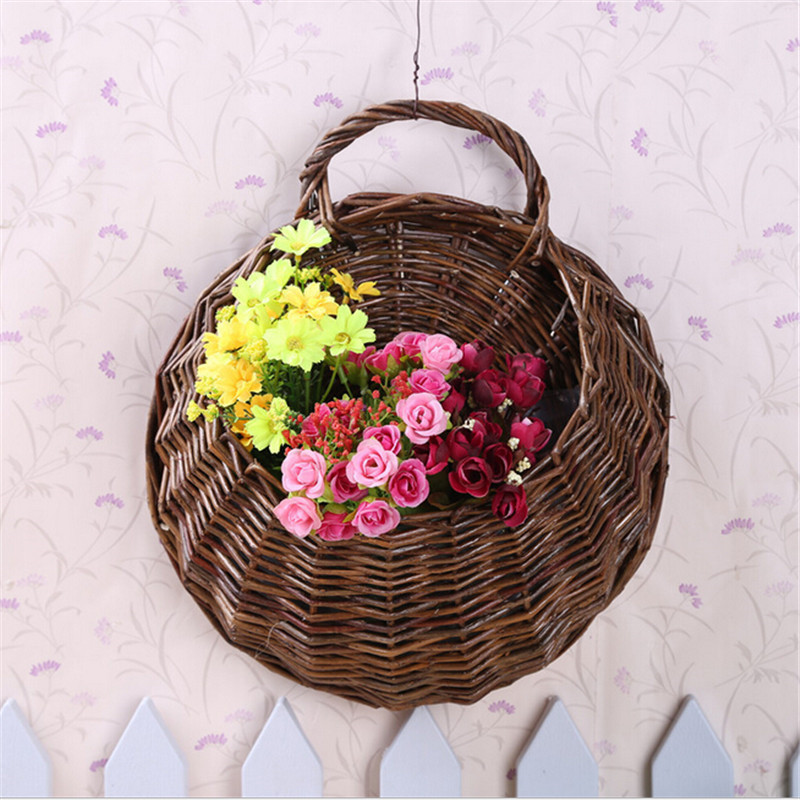 Wall Hanging Basket natural rattan wall hanging basket hanging basket willow rattan