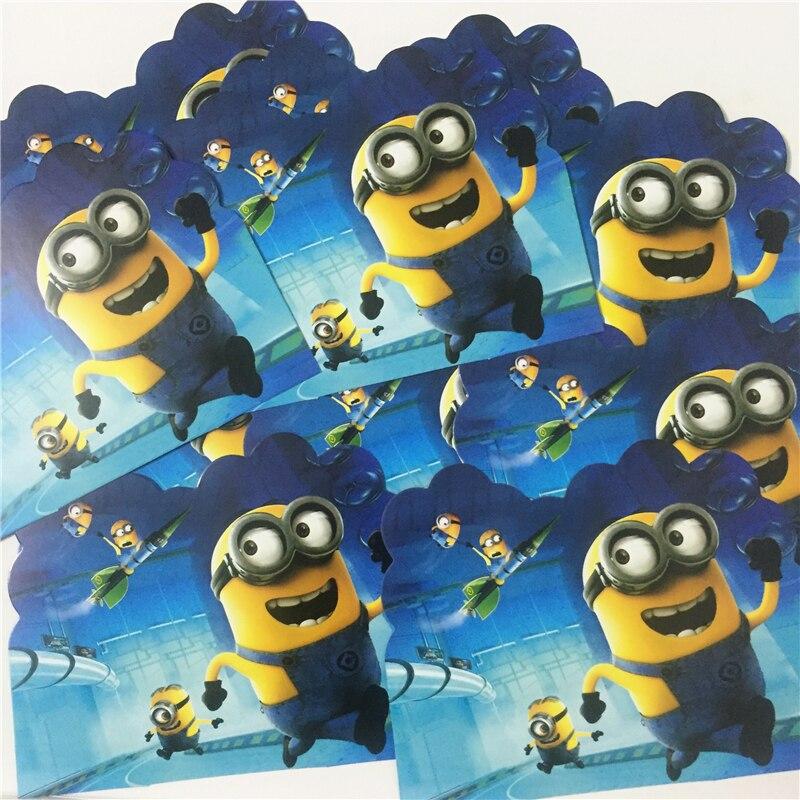 Diweini 10pcs Cute Inviting Card Cartoon Cards Birthday Party