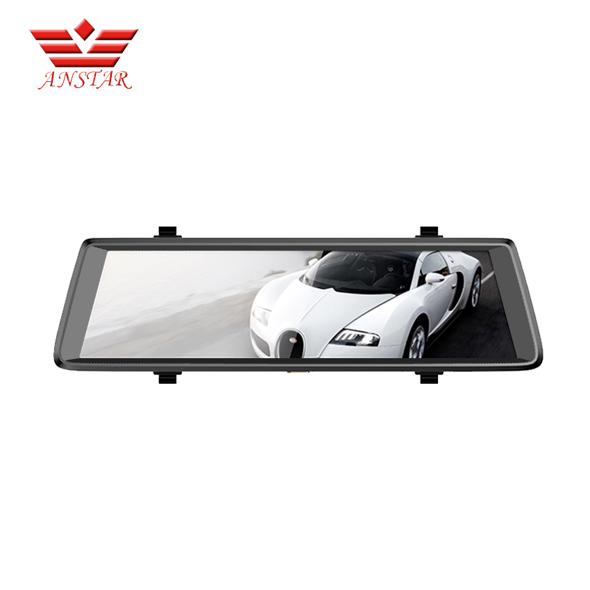 ANSTAR 10'' Monitor Rear View Mirror with DVR and Camera Android Dual lens 1080P WIFI Dashcam Dvr Automobile Video Recorder