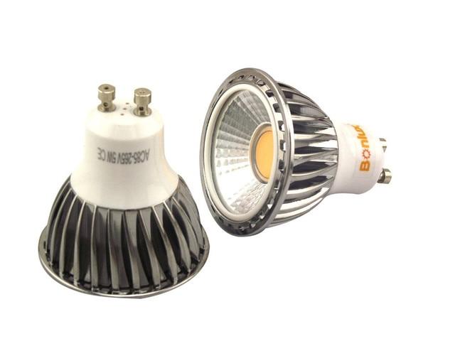 Cob led gu spot light bulb w degree ce rohs approved cob