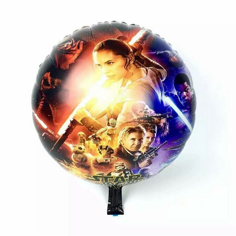25pcs/lot New arrival star wars balloons round bubble balloons 18 inch birthday