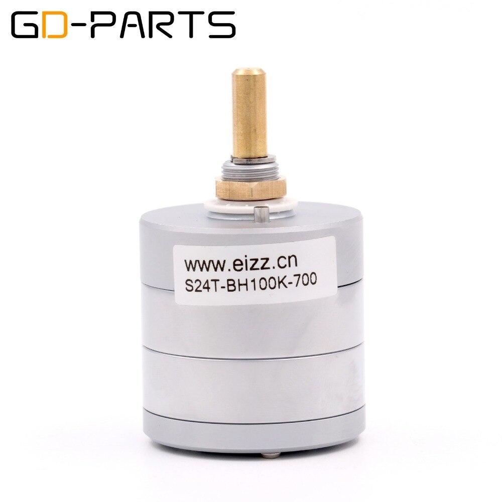 EIZZ LOG 100 K 24 étapes atténuateur stéréo série Type potentiomètre de Volume haut-parleur Hifi platine vinyle CD DAC amplificateur contrôle du Volume