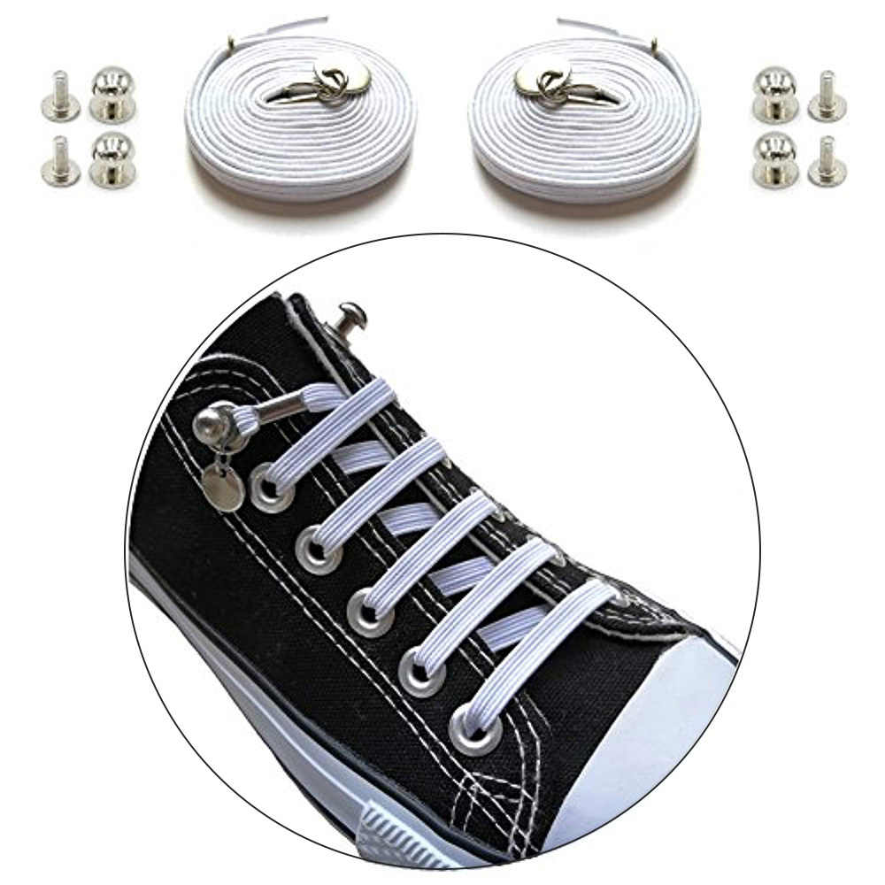 Lounge เชือกผูกรองเท้าอเมริกันโพลีเอสเตอร์เทรนด์ลูกไม้ Shoelace กีฬารองเท้าหัวเข็มขัด, ใหม่รองเท้า Laces