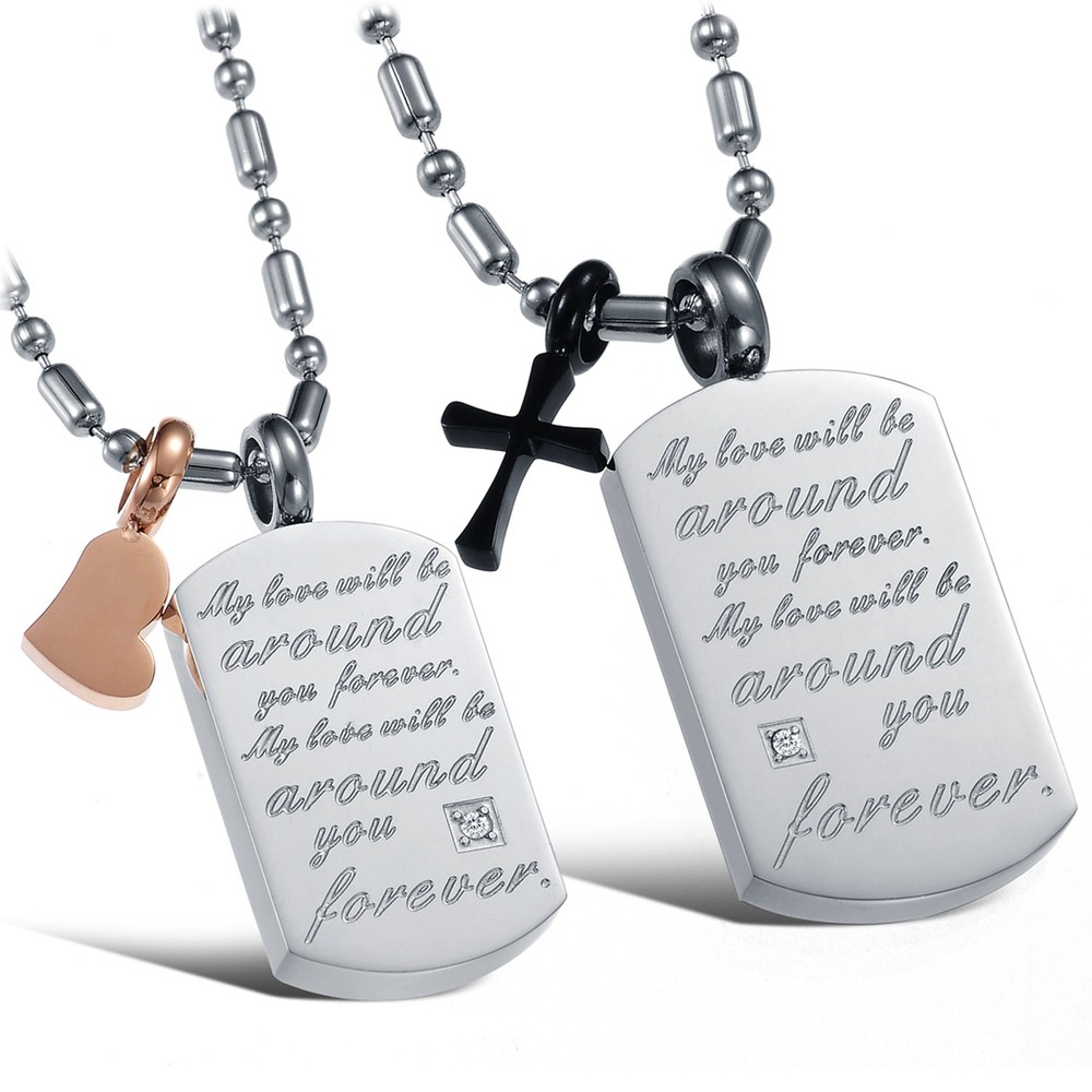 Popular Matching Cross Necklaces for Couples-Buy Cheap Matching ...