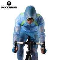 ROCKBROS ciclismo Windcoat bicicleta de montaña montar en bicicleta impermeable pantalones respirables comprimido parabrisas impermeable traje de abrigo de viento