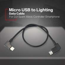 Data Cable for DJI Spark Mavic Pro Air Control Micro USB to Micro USB Type-C Lighting Adapter Line for Android Phone Tablet micro usb fit ios lighting type c otg data cable line for dji mavic 2 spark mavic air pro controller samsung iphone ipad tablets