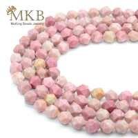 Perles en pierre naturelle à facettes Perles de Rhodonite pour la fabrication de bijoux 6mm 8mm 10mm Perles d'espacement de gemme bracelet à bricoler soi-même Perles en gros
