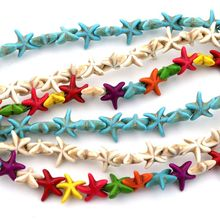 13mm Starfish Leaf Spacer Loose Natural Stone Beads For Jewelry Necklace Making DIY Bracelet Accessories