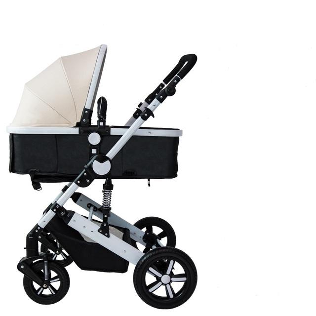 Carrinho de alta paisagem quatro estações pode sentar pode mentir dobrável suspensão de four-wheel two-way do bebê portátil buggies