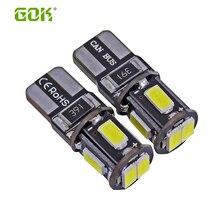 External Light 500 x Error Free T10 led canbus w5w led 5630 5730 t10 6Smd Light W5W T10 LED Interior Instrument Light bulb lamp