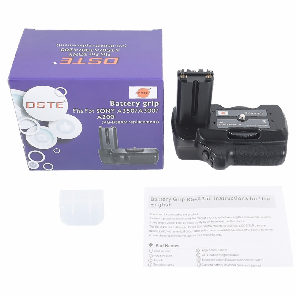 DSTE VG B30AM Battery Grip for Sony A200 A300 A350 DSLR Camera