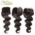 Только 1 Шт. И Три Различных Типа 7А Бразильского Виргинские Волос С Закрытие 10-20 дюймов Бразильские Weave Бразильские кружева Закрытие