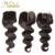 Apenas 1 Peça E Três Tipos Diferentes 7A Cabelo Brasileiro Virgem Com Fechamento 10-20 polegada Brasileiro Weave Brasileiro Fechamento rendas