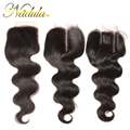 Only 1 Piece And  Three Different Types 7A Brazilian Virgin Hair With Closure 10-20inch Brazilian Weave Brazilian Lace Closure