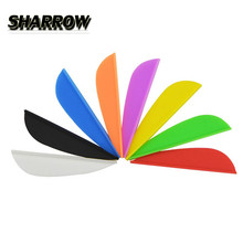 100Pcs 2 Rubber Arrow Feather Drop Shape Arrow Feathers Vanes Arrow DIY Tools For Outdoor Shooting Practice Target Accessories nd play развивающая книга цвета и формы ферма