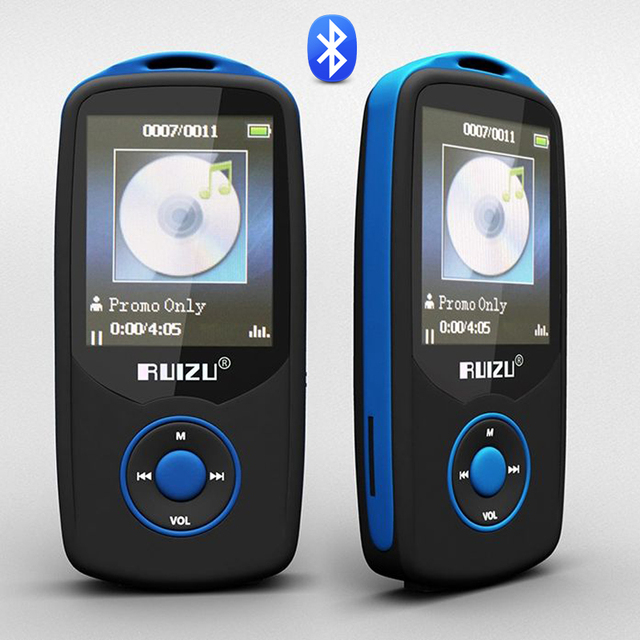 2016 Original RUIZU X06 Bluetooth Sport MP3 Reproductor de Música 4 GB 1.8 pulgadas de Pantalla 100 Horas Sin Pérdidas de Alta Calidad Grabadora FM Ebook
