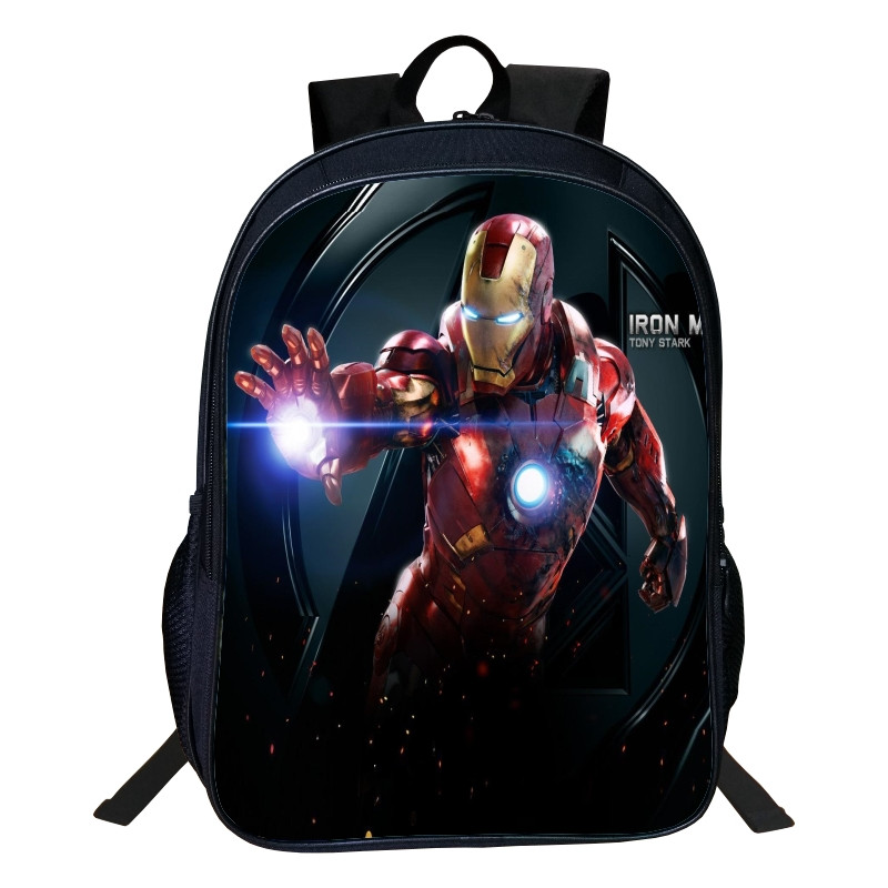 02d4e79801d0 Hot Sale Oxford 16 inches Printing Cartoon Avengers Iron Man Boys Backpacks  for Children School Bag Kids Schoolbag Tenns Bookbag-in Backpacks from  Luggage ...
