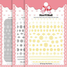 1 sheet of 3D stickers for gold nail stickers for nail metal decorations for nail manicure stickers nail for tips цена 2017
