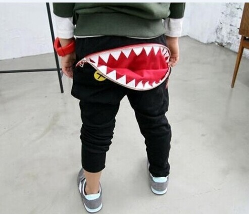 Newest Baby Kids Boys Girls Zipper Design Casual Harem Pants Toddler Loose Trousers 3
