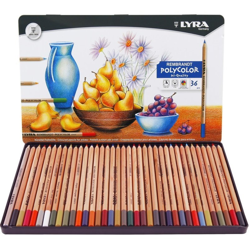 LYRA 36/72 Couleurs Rembrandt Polycolor Couleur Crayon Ensemble Dessin Crayons Crayons Lapices De Colores Crayons de couleur Art Fournitures