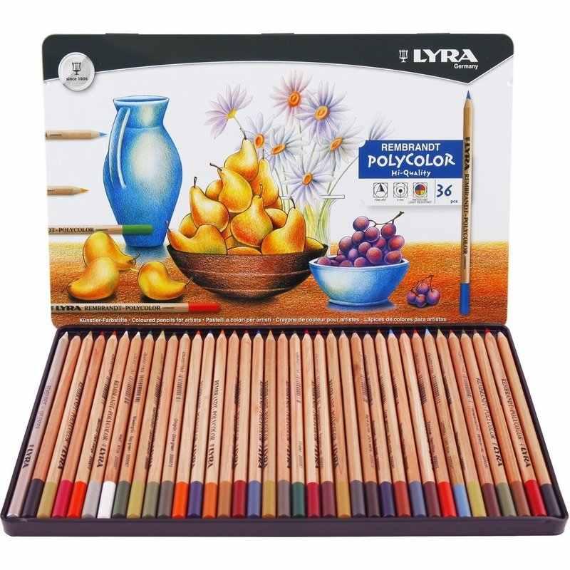 LYRA 36/72 สี Rembrandt Polycolor ชุดดินสอสีวาดดินสอดินสอสี Lapices De Colores ดินสอสีอุปกรณ์ศิลปะ