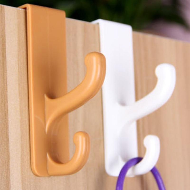 Plastic Door Hooks Over Cabinet Drawer Room Door Hook Kitchen Bathroom Hanger Hook Coat Clothes Hook