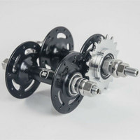 Novatec hub A565SBT A566SBT Aluminum Alloy 20/24/28/32/36 Holes Fixed Gear Single Speed Bicycle Hub 14T/15T/16T/17T/18T Bicycle Hubs     -