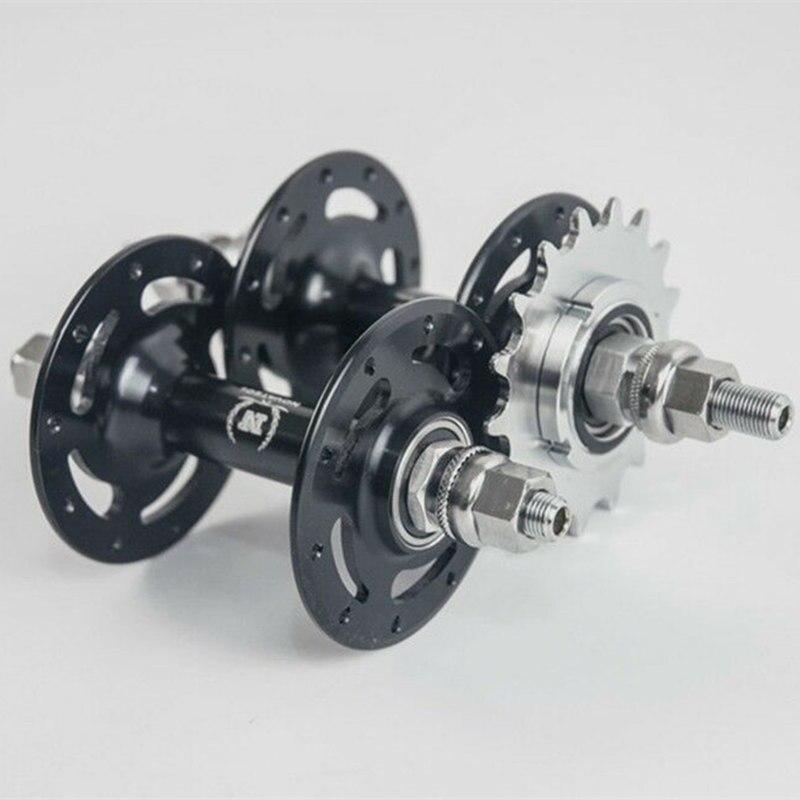 Novatec hub A565SBT A566SBT Liga de Alumínio 20/24/28/32/36 Buracos Engrenagem Fixa Única Velocidade bicicleta Hub 14 T/15 T/16 T/17 T/18 T
