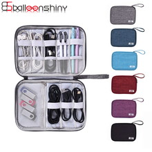 BalleenShiny Digital Accessories Storage Bags Single Layer Earphone USB Charger Wire Neaten Portable Office Travel