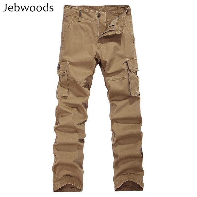Casual Lungo Cargo Pantaloni Degli Uomini Del Cotone Pantaloni Tattici Di Combattimento Dell'esercito Militare Pantaloni Della Tuta Pantaloni Da Lavoro Con Multi Tasche Più Il Formato Con Metodi Tradizionali