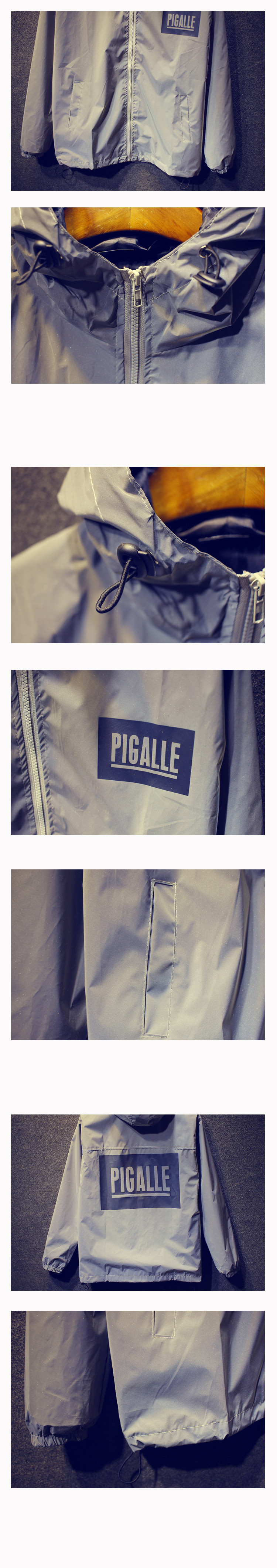93683a513 Brand Clothing Pigalle Jackets Men Skateboard 3M Reflective Jacket  Waterproof Casual Coats Outwear Hooded Raincoat Size S XXL-in Jackets from  Men's ...
