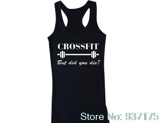 084ae00738 Crossfit But Did You Die Tank Funny Crossfit top Unisex Womens T-shirt Crop  Tank Top