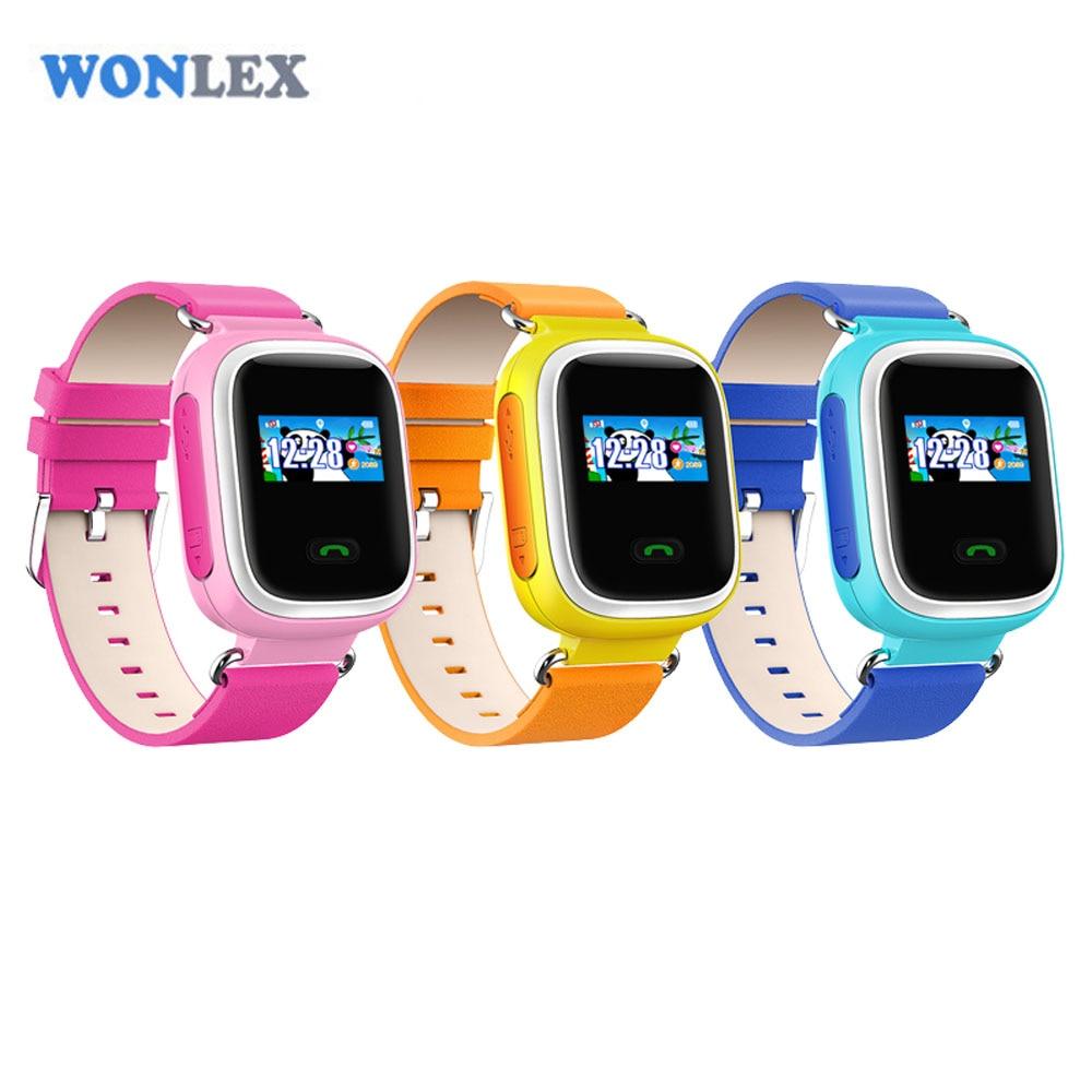 Wonlex Color Sreen Gsm Gps Tracker Watch Children Kids Smart Gps Watch Phone Sos Geo