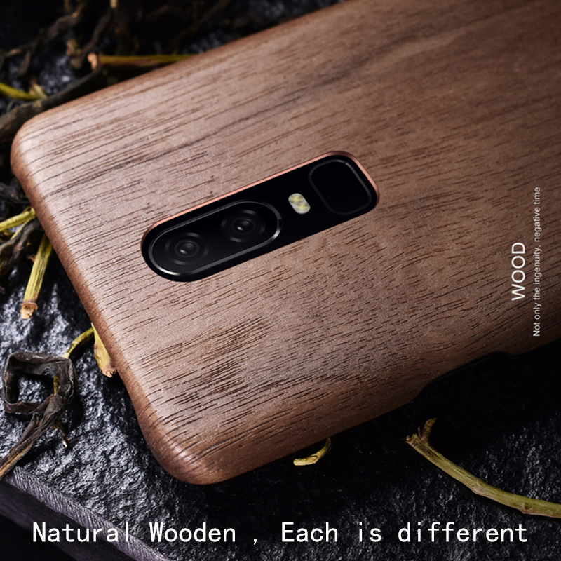 Natural Wooden phone case FOR OnePlus 6T 6 case cover bamboo/Walnut/Rosewood/Black ice wood/ shell (Real wood) OnePlus6T 1+6T 6