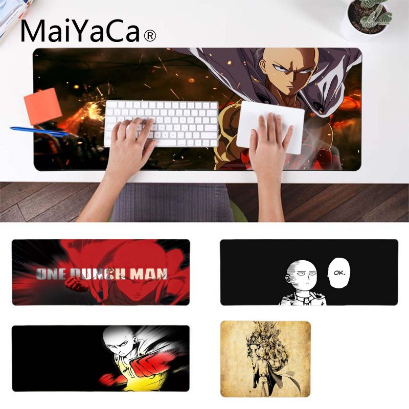 MaiYaCa My Favorite Anime One punch man mouse pad gamer play mats Gamer Speed Mice Retail Small Rubber Mousepad