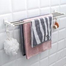 Двойной органайзер для ванной комнаты, хромированная стойка для полотенец, настенный держатель для полотенец для ванной комнаты, полка, стеллаж для хранения, бар, wieszak na reczniki