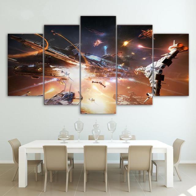 5 panel HD impreso enmarcado Star Wars spacecraft pared arte de la ...