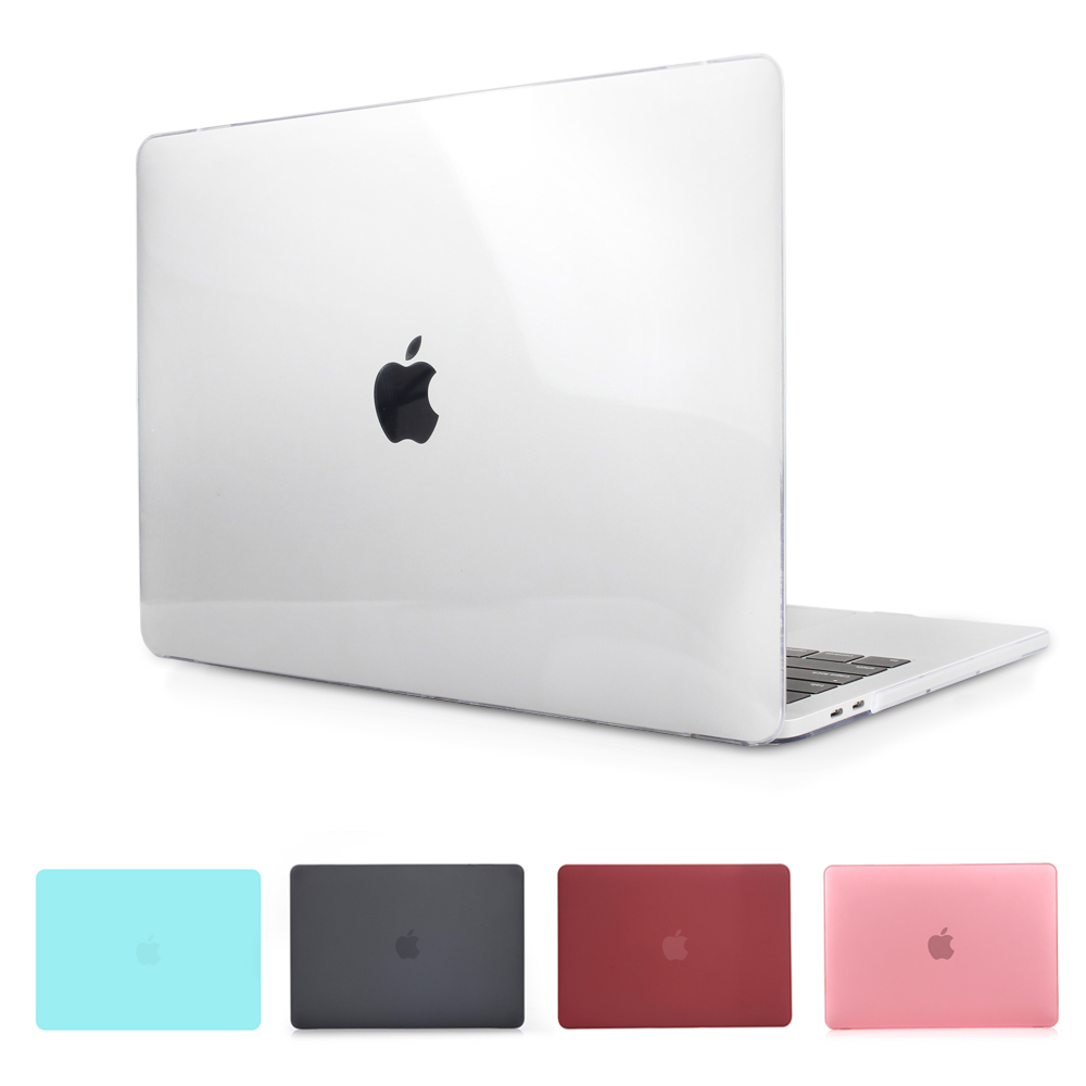 Crystal & Matte Black Case For 2016 2017 New Macbook Pro 13 15 Case Fit A1706 A1707 Touch Bar A1708 Non Touch Bar Notebook Cover new cover for macbook air 11 13 case 13 15 pro for macbook case 13 sleeve crystal matte hard notebook laptop cover case pro 13